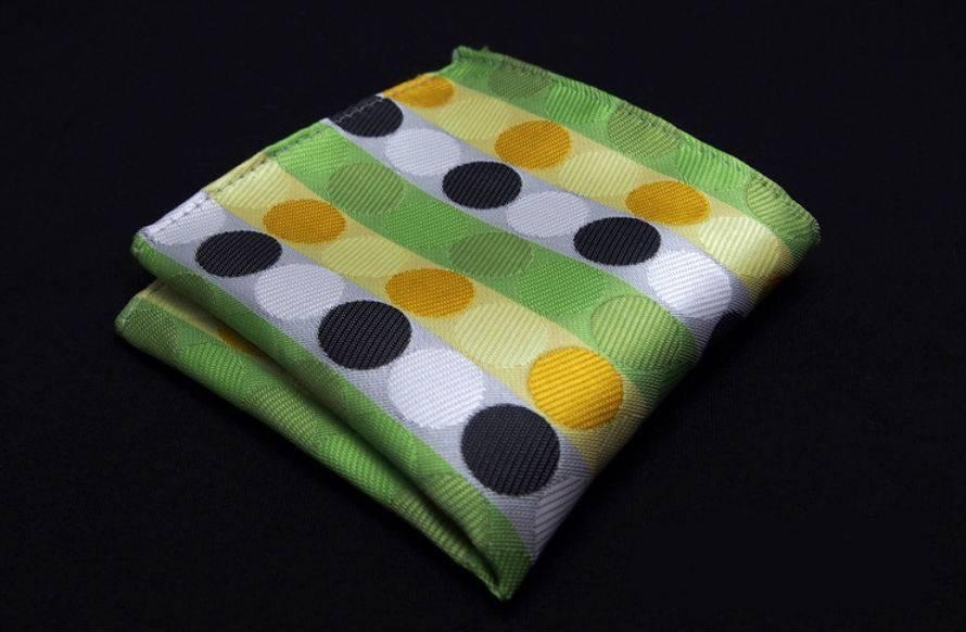 English Fashion Green spotted handkerchief