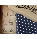 English Fashion Blue Handkerchief polka dot