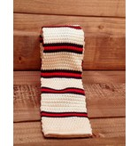 English Fashion Necktie knitted cream