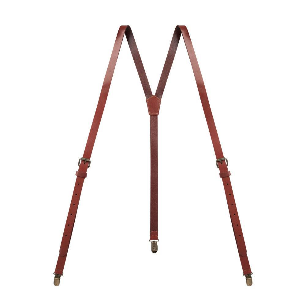 English Fashion Real Leather Suspenders