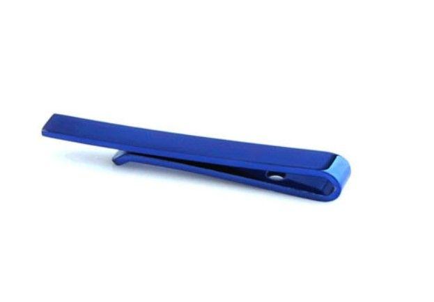 English Fashion Blauwe Stropdas Clip - Design