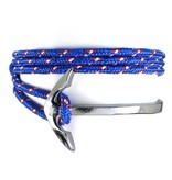 English Fashion Wrap Armband Vishaak en Touw - Blauw