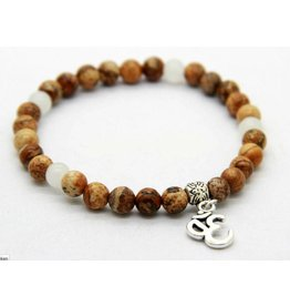 English Fashion Yoga Bedel Armband - 6mm brede beads