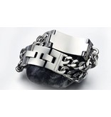 English Fashion Stainless Steel Chain Link Cross Bracelet