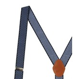 English Fashion Classy Suspenders Blue Striped