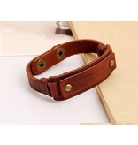 English Fashion Rugged leather wristband for men
