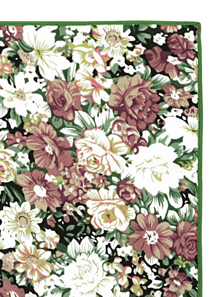 English Fashion Cotton Pocket Squares - Floral