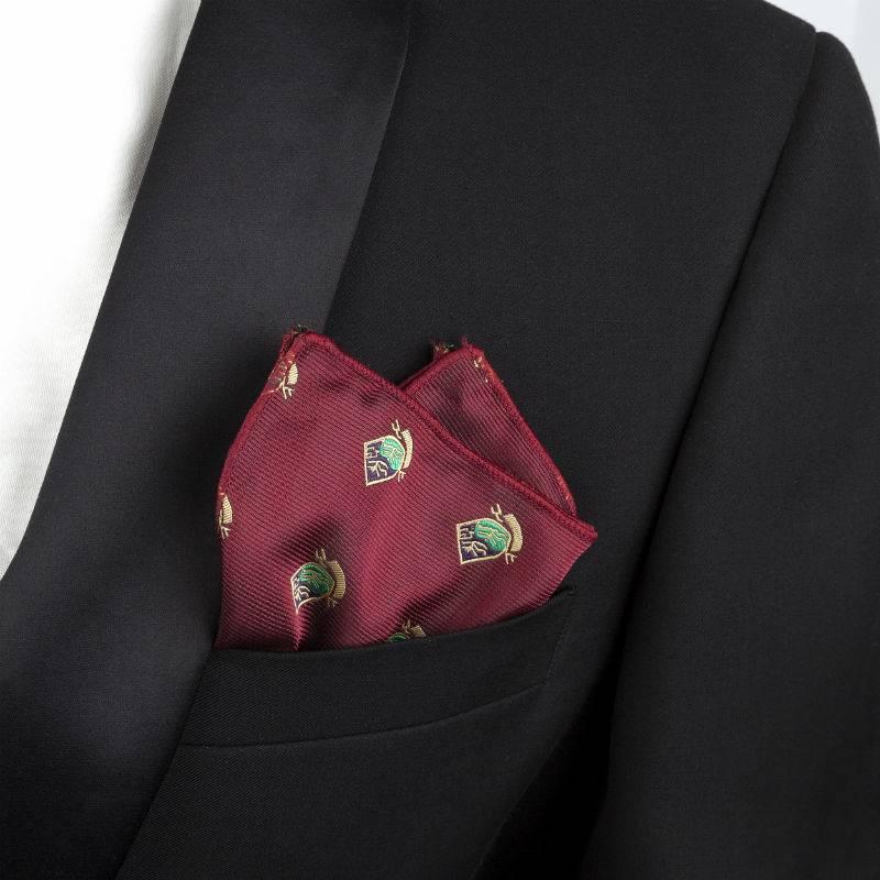 English Fashion Satijnen pochette Rood - Embleem