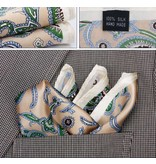 English Fashion Large Handkerchief Beige Paisley