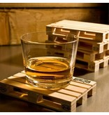 English Fashion Reclaimed wood pallet coasters set of 4