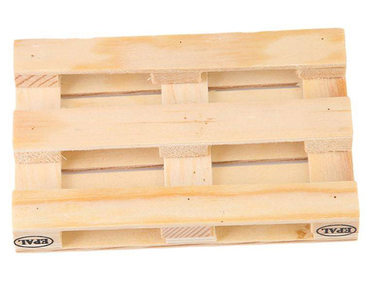 English Fashion Pallet hout onderzetters set van 4