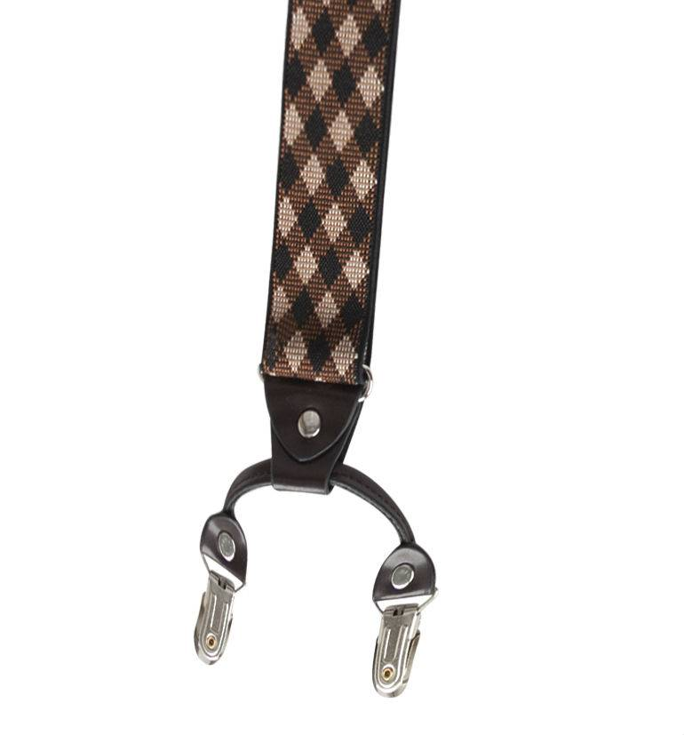 English Fashion Suspenders dark diamond
