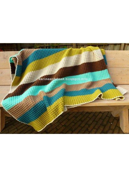 Stylecraft Pakket Retro deken 'Karin aan de haak' (7 kleuren)