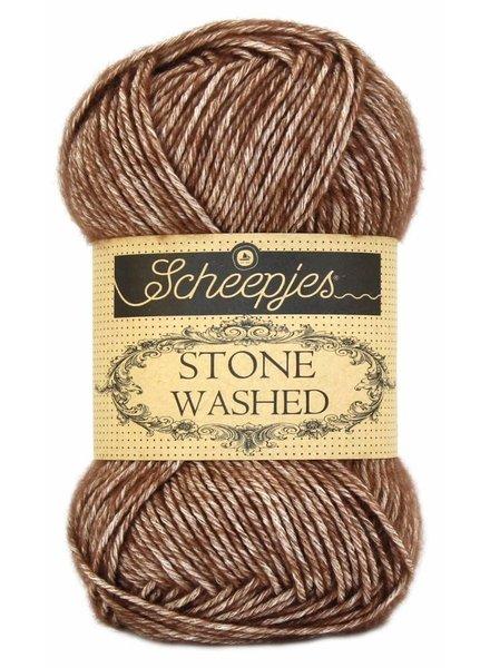 Scheepjeswol Stone Washed 822 brown agate