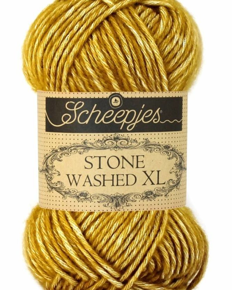 Scheepjeswol Stone Washed XL 849 yellow jasper