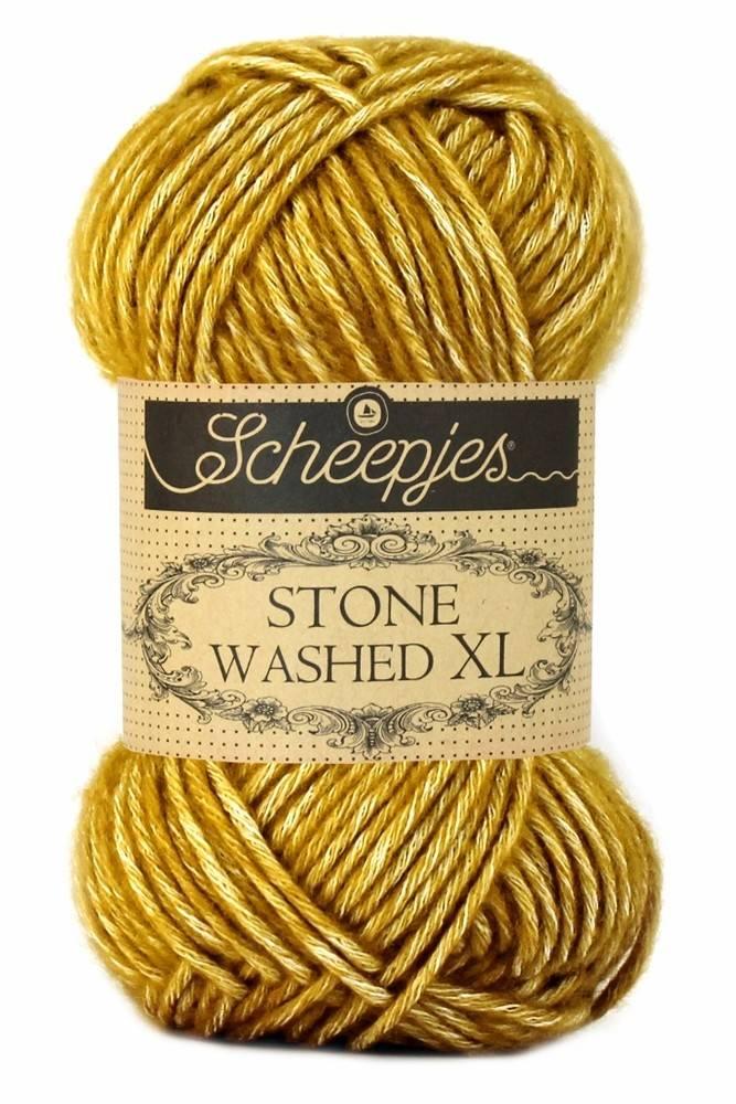 Scheepjeswol Stone Washed XL 849 yellow jasper