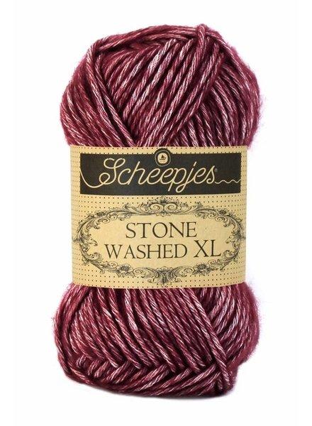 Scheepjeswol Stone Washed XL 850 garnet