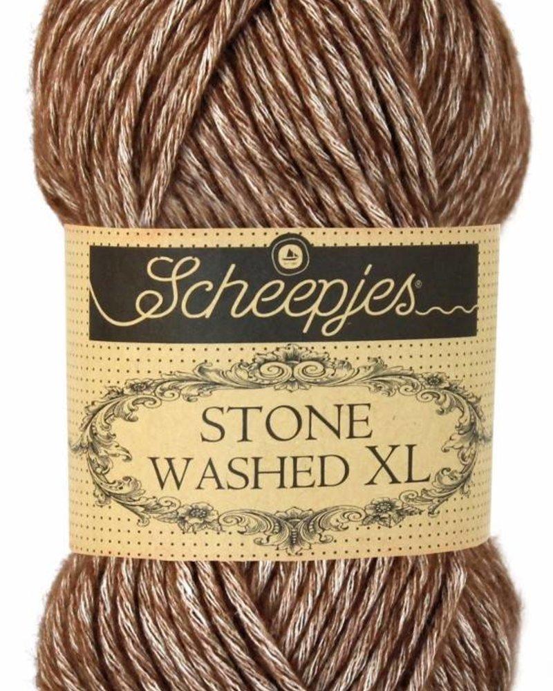 Scheepjeswol Stone Washed XL 862 brown agate