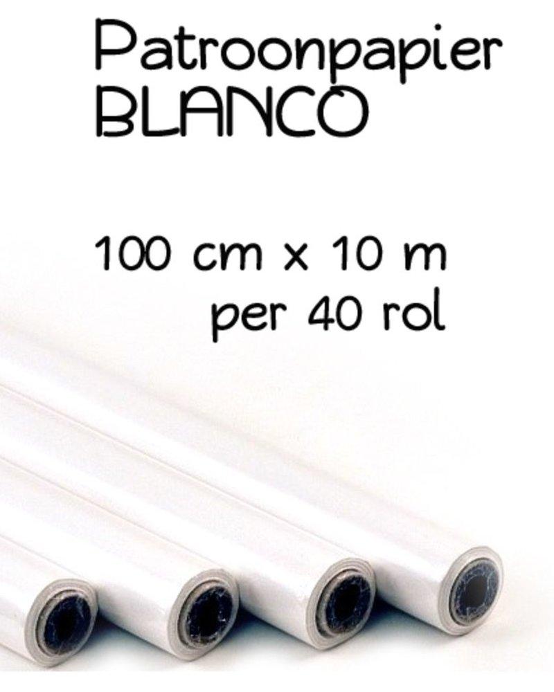 Patroonpapier blanco op rol 1 m x 10 m