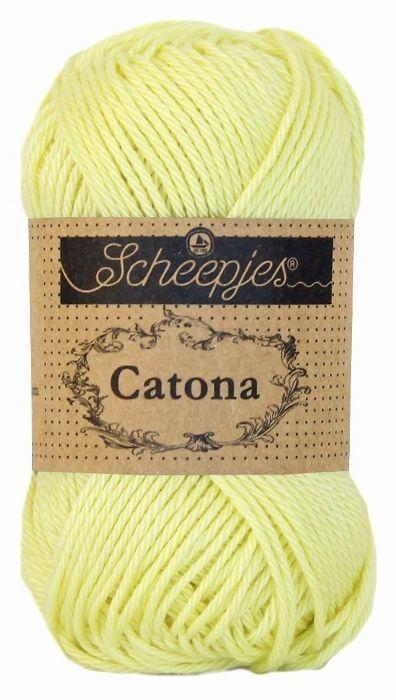 Scheepjeswol Catona 100 lemon chiffon