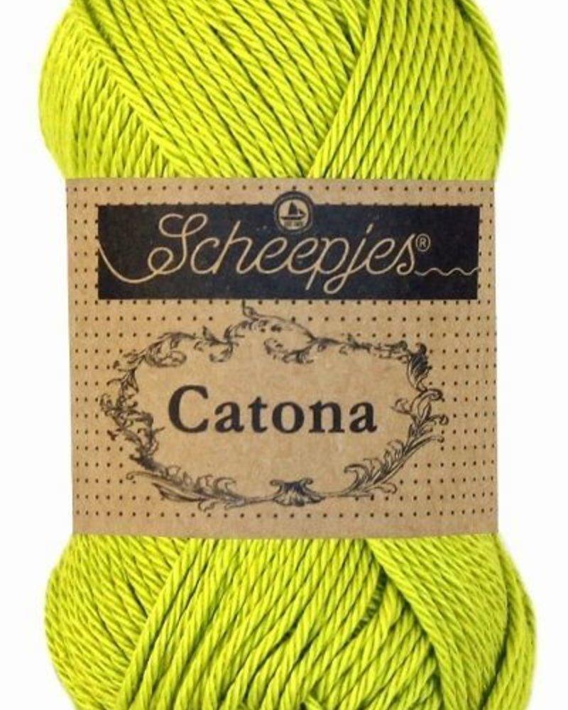 Scheepjeswol Catona 245 green yellow