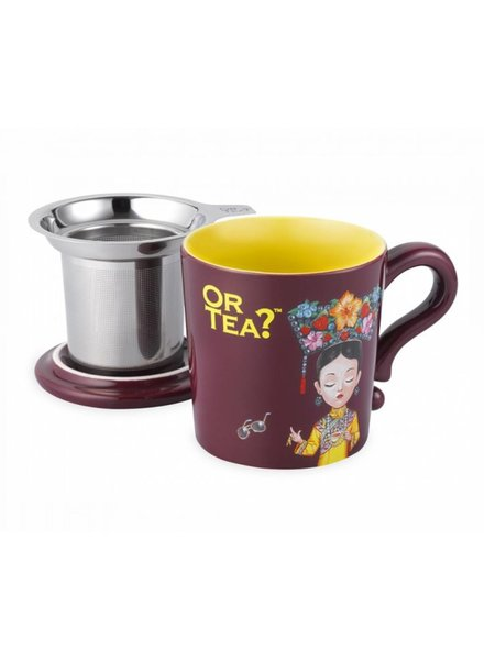 Or tea? Burgundy mug