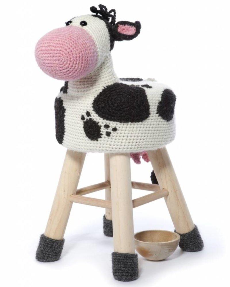 Haakpakket dierenkruk koe
