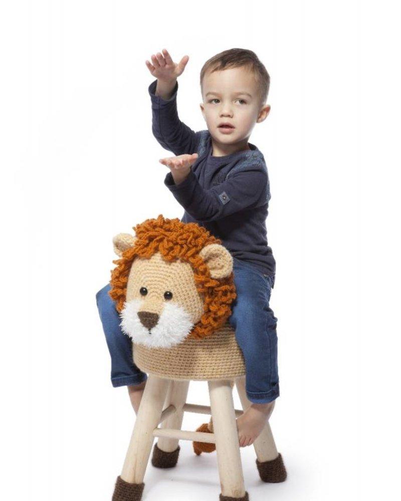 Haakpakket dierenkruk leeuw