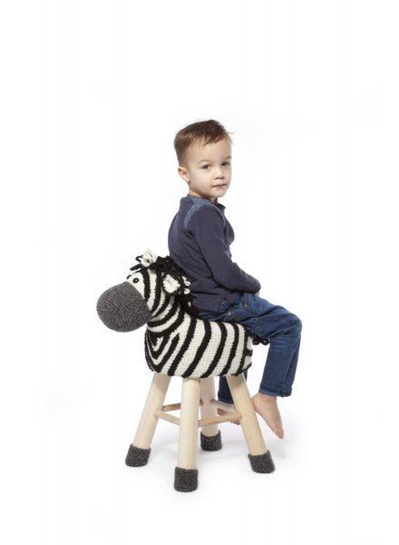 Haakpakket dierenkruk zebra