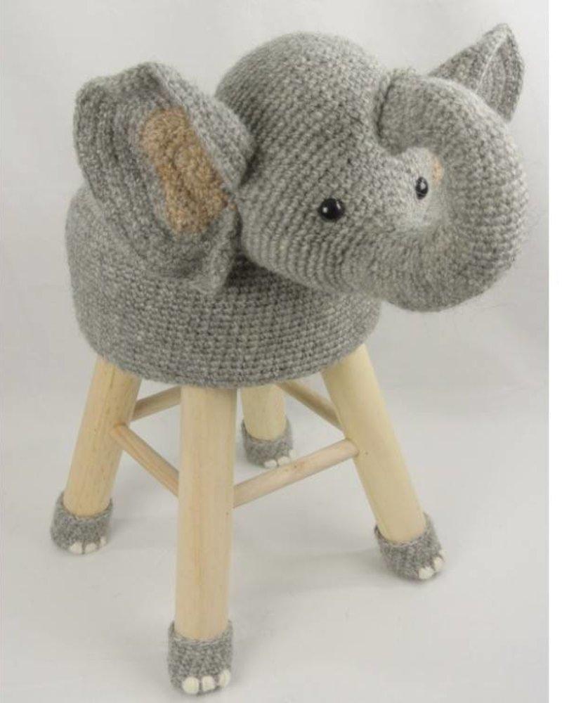 Haakpakket dierenkruk olifant