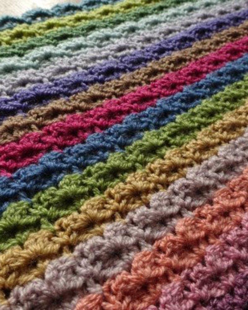 Stylecraft Pakket Attic24 'Hydrangea Stripe blanket' (15 kleuren)