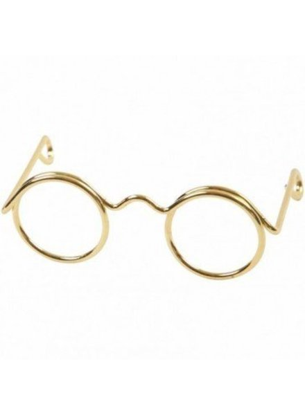 Brilletje goudkleur 2,5 cm