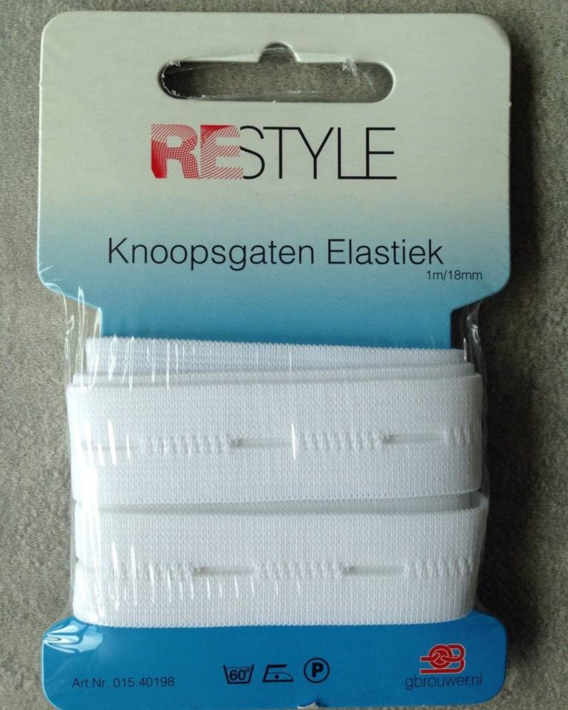 Koopsgaten elastiek 18 mm (1m)