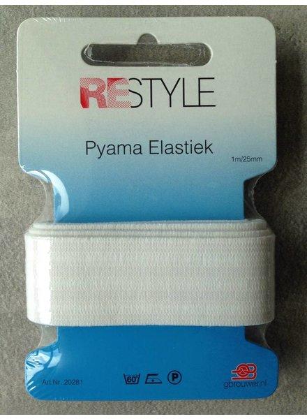 Pyjama elastiek 25 mm (1m)