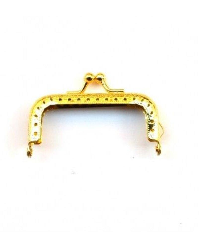 Portemonnee sluiting 7 cm (hoekig) goud