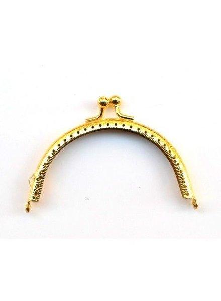 Portemonnee sluiting 8,5 cm (rond) goud