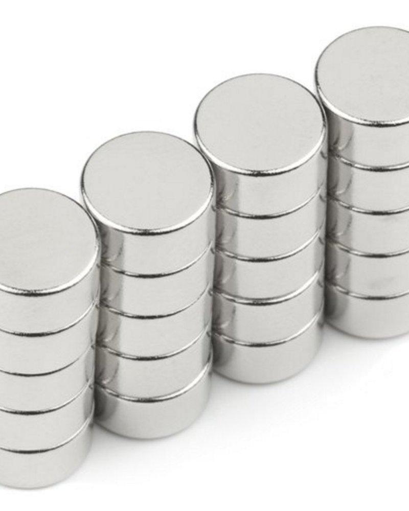 Magneetjes (diameter 8mm - hoogte 2mm - houdkracht 1,1 kg)