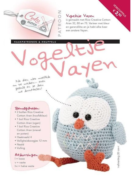 Patroon - Vogeltje Vayen