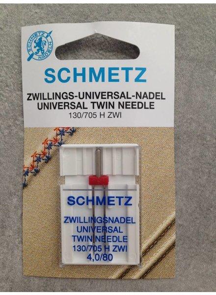 Schmetz - Tweelingnaald 4 mm universeel (80)