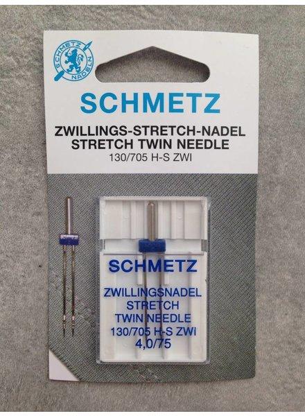 Schmetz - Tweelingnaald 4 mm stretch (75)