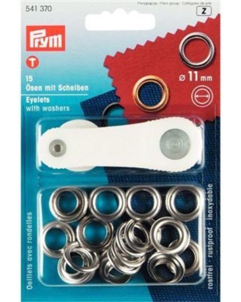 Sluiting ring met schijf 11 mm (15 stuks)
