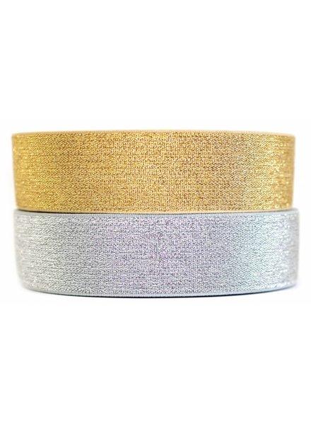 Sier-elastiek goud 6 cm (1 meter)