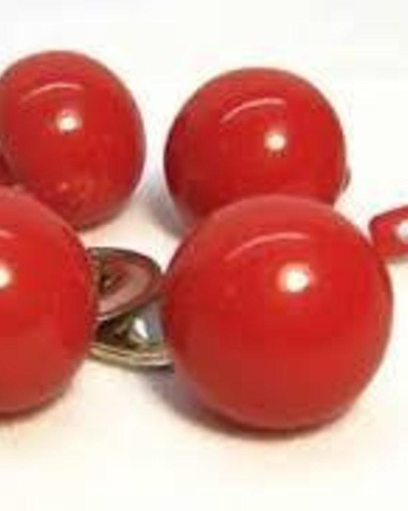 6 stuks neus rond rood 15 mm EINDE REEKS (metalen sluitring)