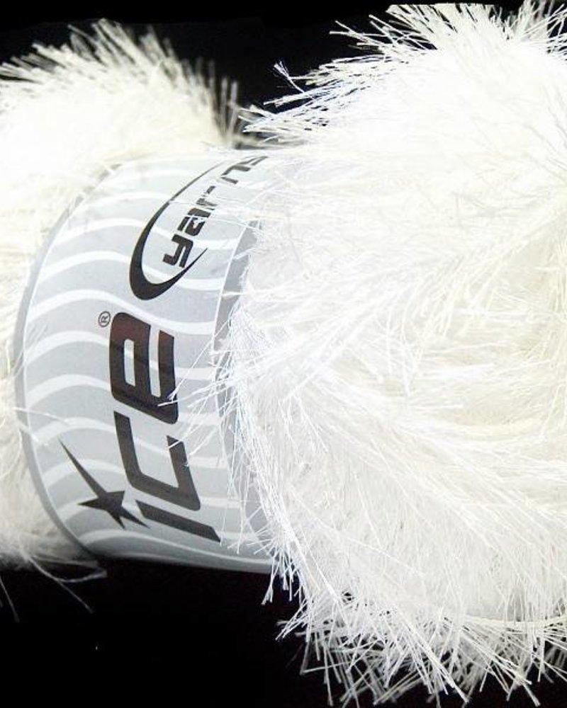 Ice Yarns Eyelash white 100 gr
