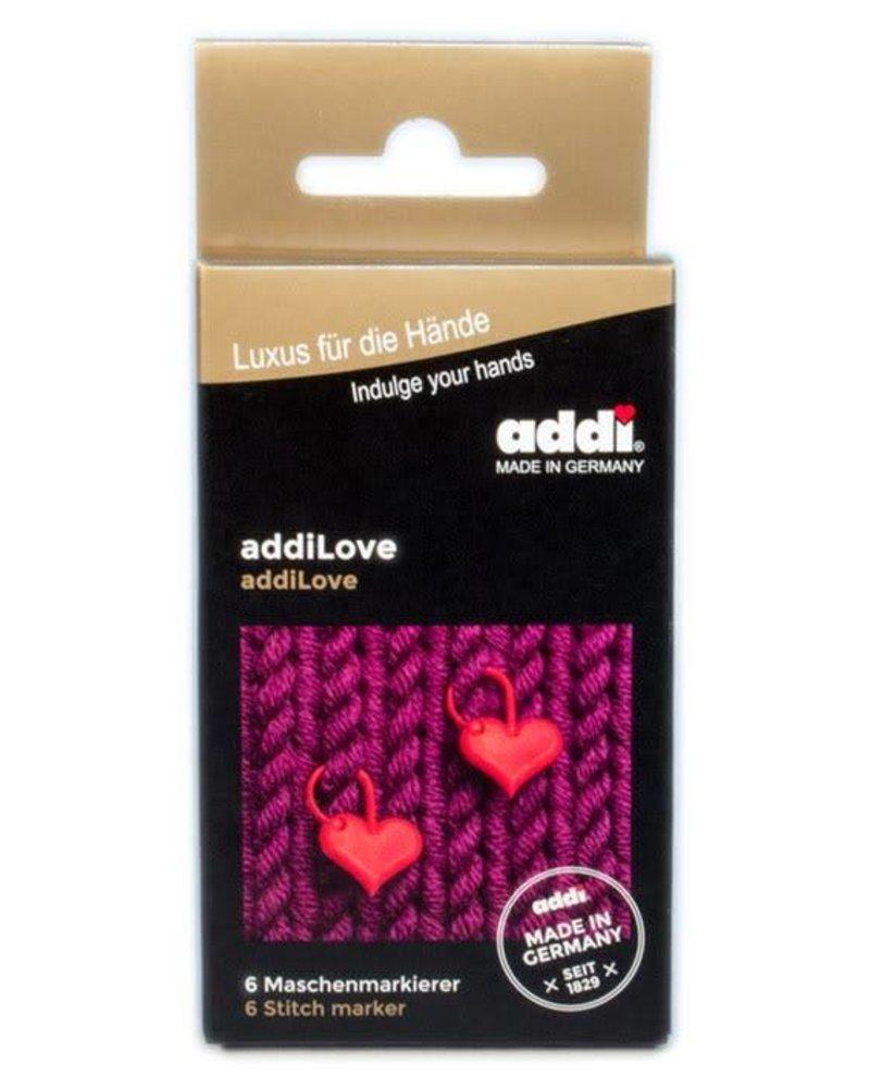 Markeerringen AddiLove hartjes - 6  stuks