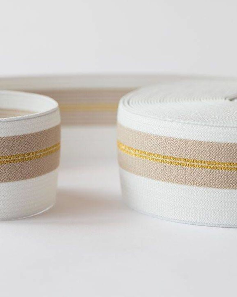 Elastische tailleband - gouden lijn