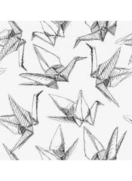 French Terry - Origami birds