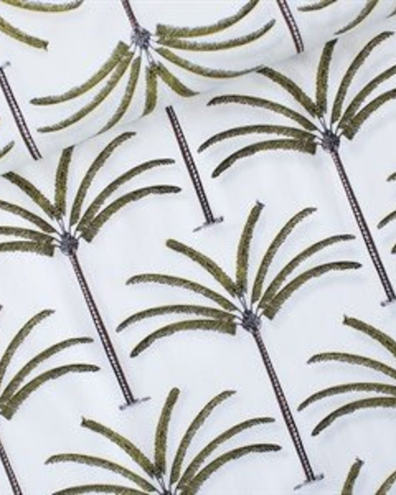 Katoen - Cotton Lawn Palms gebroken wit