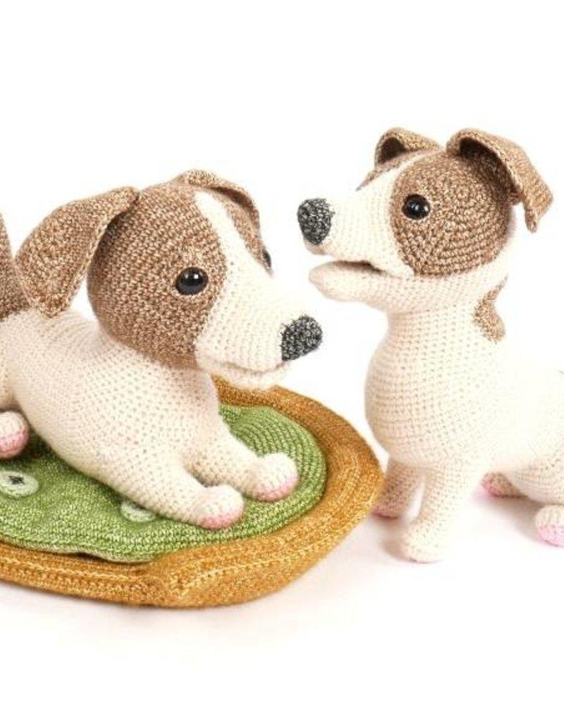 Pakket Woeffies haken: mand met kussen (geen hondje!)