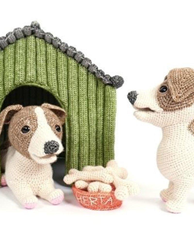 Pakket Woeffies haken: voerbak met kluifjes (geen hondje!)